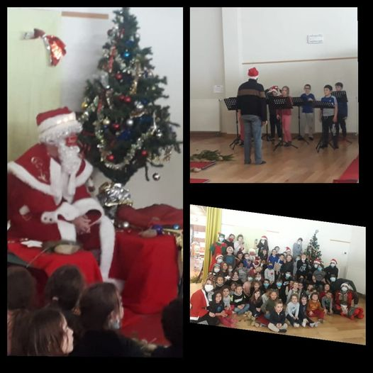 Le Père Noël est venu cet après-midi au Centre de Loisirs