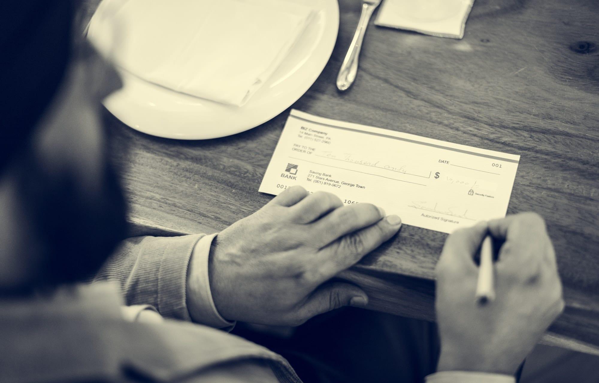 Chèque de remboursement