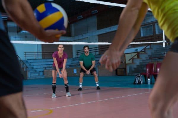 Joueurs de volley MJC de Rives